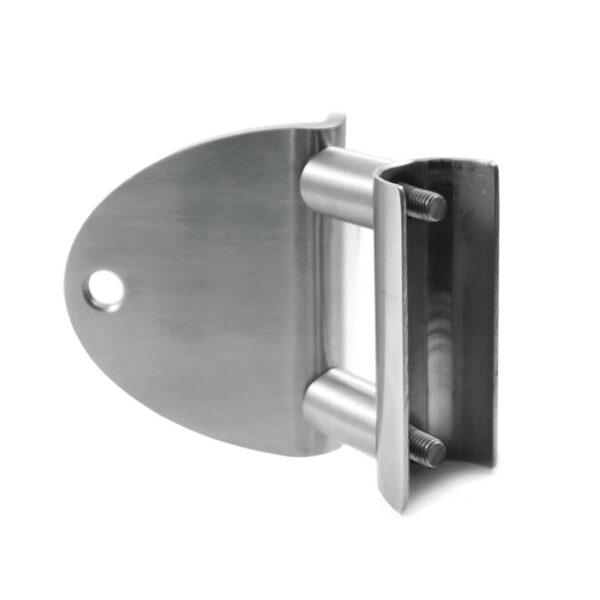 Flansch für stirnseitigen Geländerpfosten Ø 42.4mm für 90° Aussen-Eckanbindung