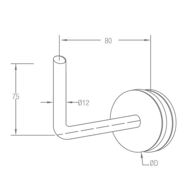 Handlaufträger zum Schweißen mit Punkthalter Ø 50mm