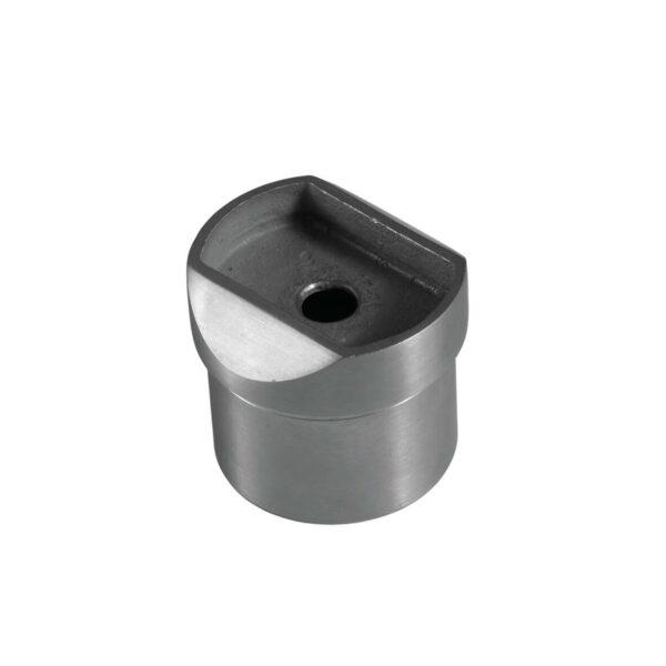 Rundrohr-Adapter Ø 42.4mm mit flachem Anschluss