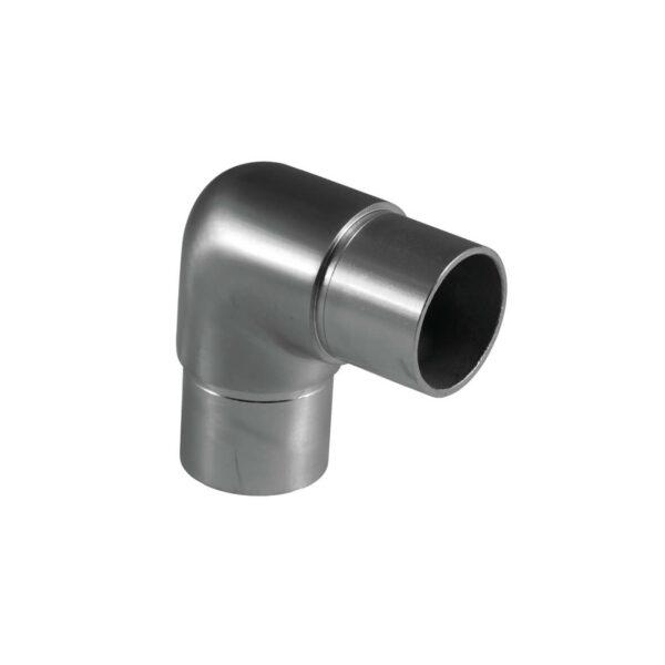 Rohrverbinder Ø 42.4 x 2.0 mm abgerundet 90° Winkel für 42,4mm Rundrohre