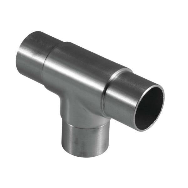 Rohrverbinder Ø 42.4 x 2.0 mm 180° Winkel mit Abgang für 42,4mm Rundrohre