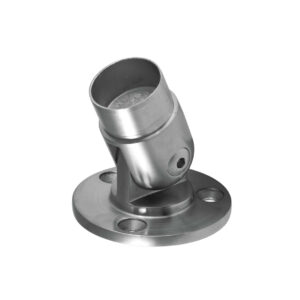Gelenkverbinder mit Ø 80mm Flansch aus Edelstahl Ø 42.4 x 2.0 mm für 42,4mm Rundrohre