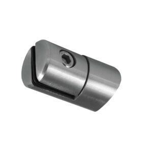 Glasplattenhalter/Plattenhalter aus Edelstahl für 1,5-4,0mm Plattenstärke für flachen Anschluss/Rundrohre mit Ø 42.4/48,3mm