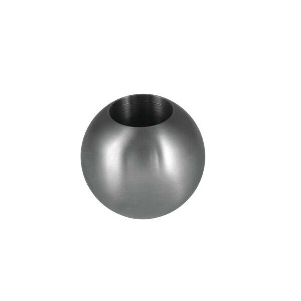 Endkugel aus Edelstahl mit Durchmesser 25mm voll ausgefüllt mit 12mm Sackloch