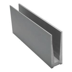 Geländerprofil Railing SIMPLE TOP für VSG 2 x 8mm - 4000mm Länge Glasgeländer Profil Aluminium