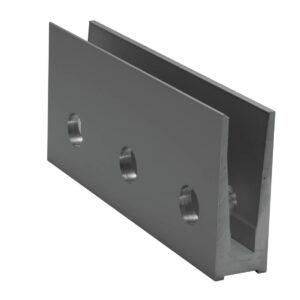 Geländerprofil Railing SIMPLE SIDE für VSG 2 x 8mm - 4000mm Länge Glasgeländer Profil Aluminium