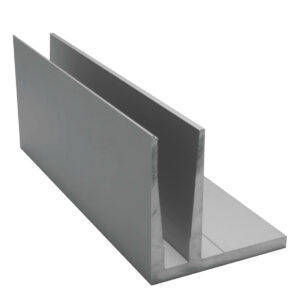 Geländerprofil Railing QUICK für VSG 2 x 8mm - 4000mm Länge Glasgeländer Profil Aluminium