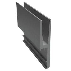 Geländerprofil Railing STANDARD für VSG 2 x 8mm - 4000mm Länge Glasgeländer Profil Aluminium
