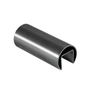 rundes Nutrohr mit 5000mm Länge und einer Wandstärke von 1,5mm, mit 24x24mm Nut und Ø 42.4mm