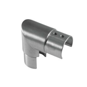 vertikaler Nutrohr-Eckverbinder mit 90° Winkel für runde Nutrohre mit Ø 42.4mm