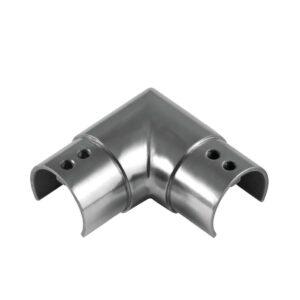 horizontaler Nutrohr-Eckverbinder mit 90° Winkel für runde Nutrohre mit Ø 42.4mm