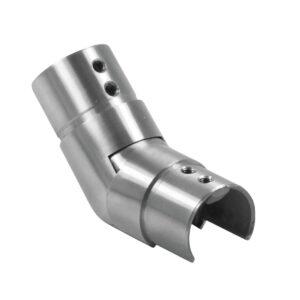 Aufsteigender Ø 42.4mm Nutrohr-Gelenksverbinder aus Edelstahl für 25-55° Winkel