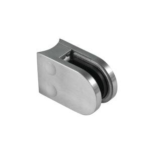 Klemmbefestigung 63x45mm Edelstahl Rundrohr Anschluss 42,4mm inkl. M8 x 20mm Schraube