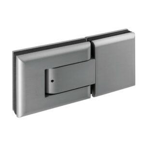 Pendeltürbeschläge selbstschliessendes Pendeltürband Glasstärke 8-10mm Inox-Effekt natureloxiert