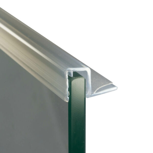Duschtürbeschläge Anschlagdichtung zum Aufstecken Länge 2500mm Duschtüre Dichtung PVC Kunsstoff