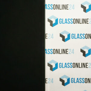 VSG Glas 2 x klar, Folie schwarz deckend