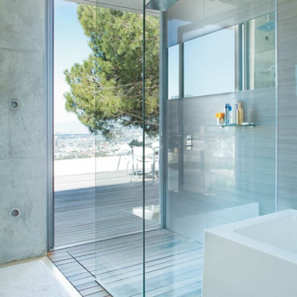 Duschglas timeless einfache Reinigung ohne Schlieren Duschwand